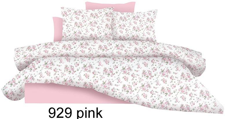 Σετ σεντόνια Διπλά 100% βαμβάκι Pink Flowers 929 λευκά είδη υπνοδωμάτιο σεντόνια ημίδιπλα διπλά σεντόνια