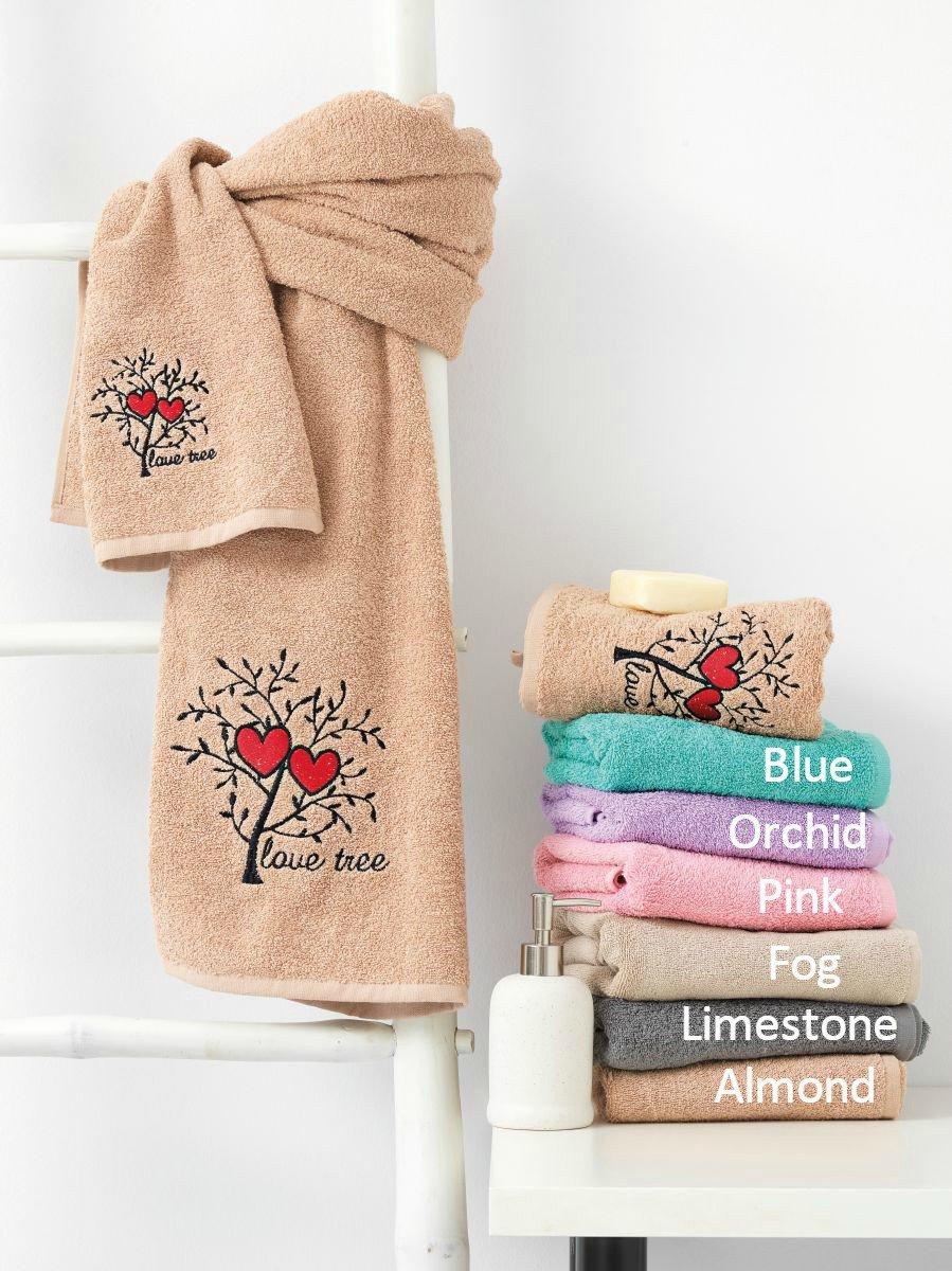 Πετσέτες Μπάνιου (Σετ 3τμχ) LOVE TREE Palamaiki Almond