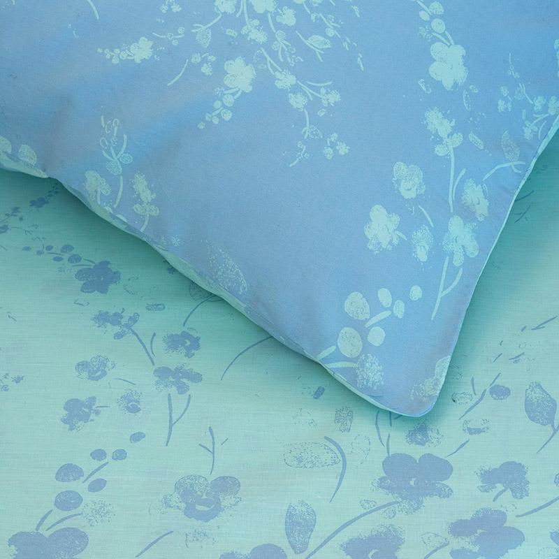 Σεντόνια Υπέρδιπλα (Σετ) 160X200+32 Kocoon Mystique Blue Με Λάστιχο