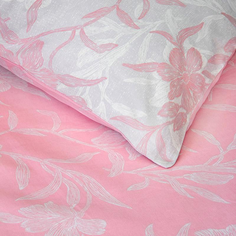 Σεντόνια Μονά (Σετ) 100X200+30 Kocoon Novela Pink Με Λάστιχο