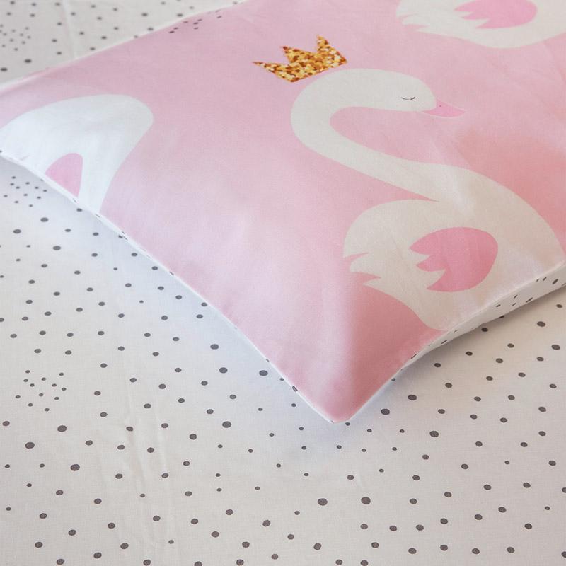 Σεντόνια Κούνιας (Σετ) 120X160 Kocoon Swan Χωρίς Λάστιχο