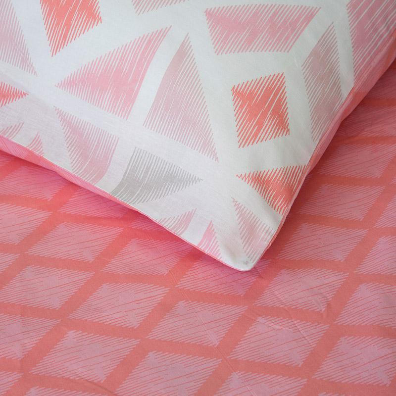 Σεντόνια Μονά (Σετ) 160X270 Kocoon Tisser Pink Χωρίς Λάστιχο