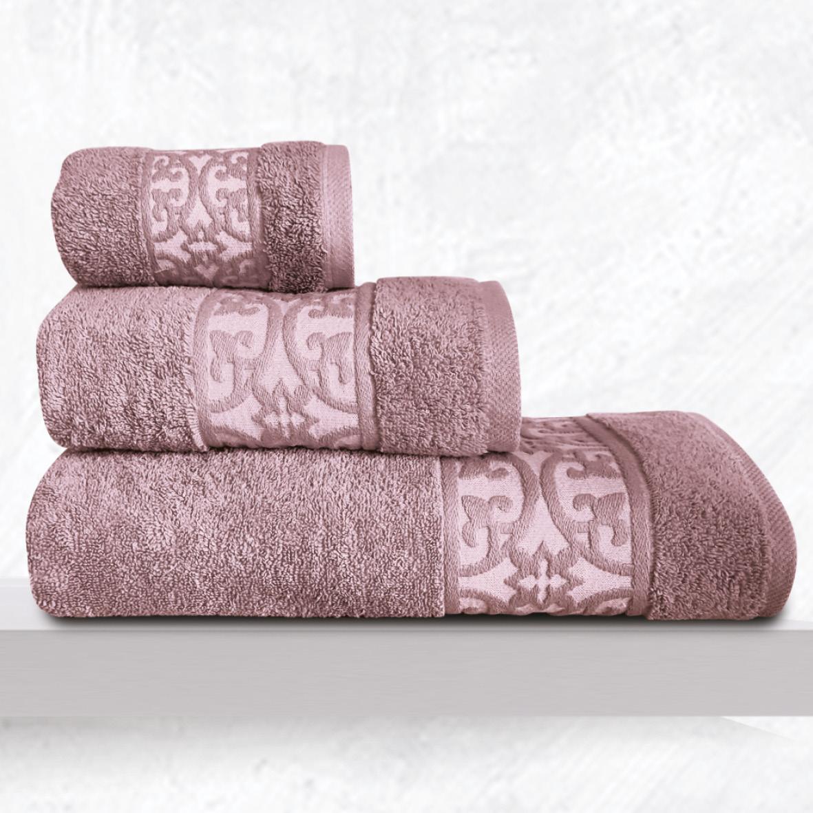 Πετσέτες Μπάνιου (Σετ 3 Τμχ) Sb Home Zenith Violet