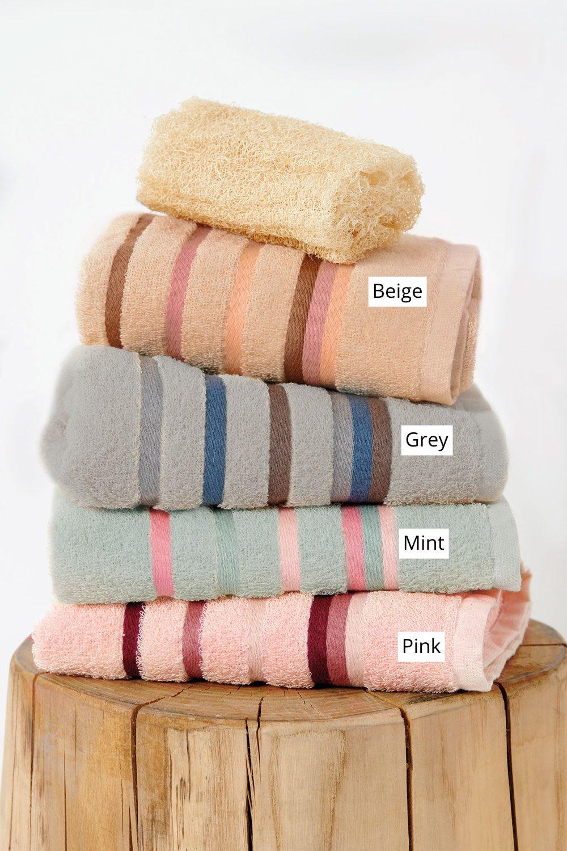 Πετσέτες Μπάνιου (Σετ 3 Τμχ) Palamaiki Towels Collection Band Beige
