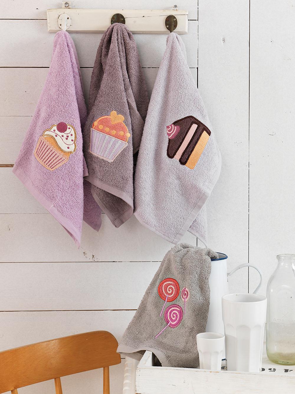 Πετσέτες Κουζίνας (Σετ 4 Τμχ) 40×60 Cakes Palamaiki Kitchen Towels