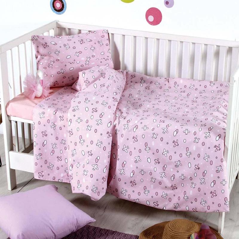 Σεντόνια Μονά (Σετ) 160×240 Sb Home Camy Pink Ροζ Χωρίς Λάστιχο