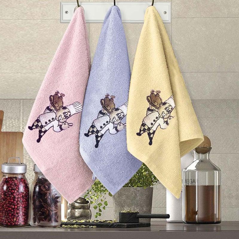 Πετσέτες Κουζίνας (Σετ 3 Τμχ) 30×50 Sb Home Coffe Time No12