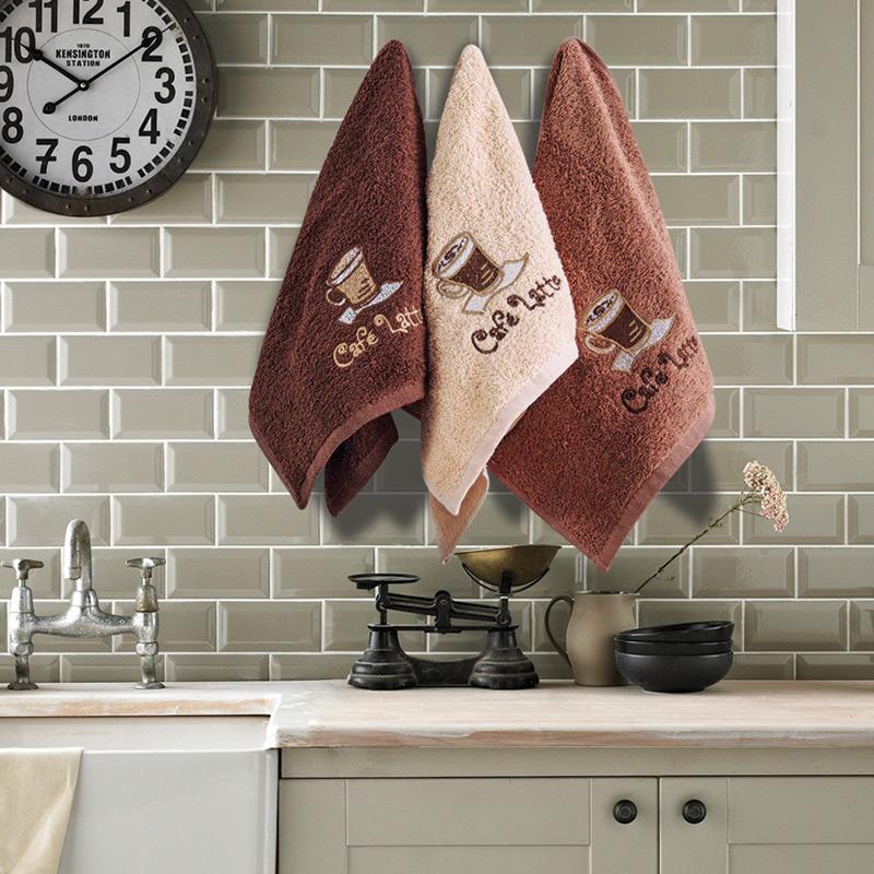 Πετσέτες Κουζίνας (Σετ 3 Τμχ) 30×50 Sb Home Coffe Time No5