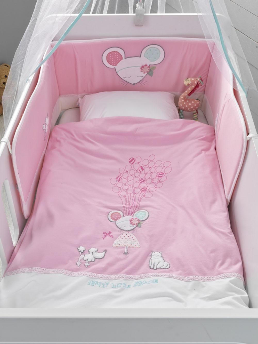 Βρεφικό Σετ Κρεβατιού (5 Τμχ) Dolly Palamaiki Baby Comfort in A Box λευκά είδη βρεφικά σετ κούνιας