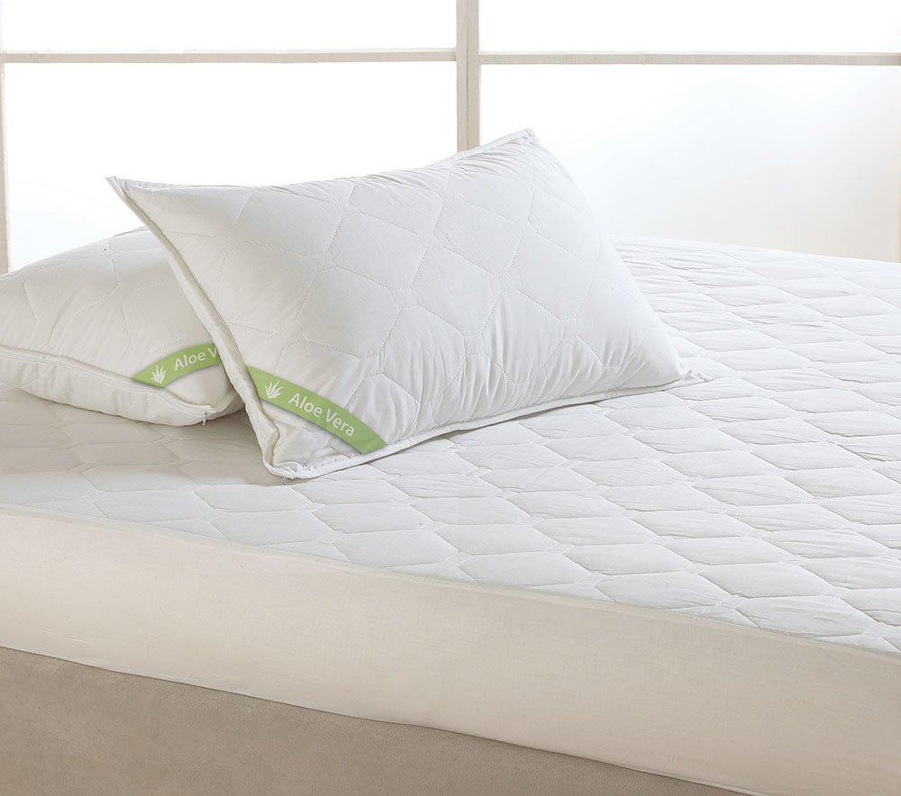 Καπιτόνε Κάλυμμα Στρώματος Υπέρδιπλο 170×200 Dormibene Aloe Vera Palamaiki White Comfort