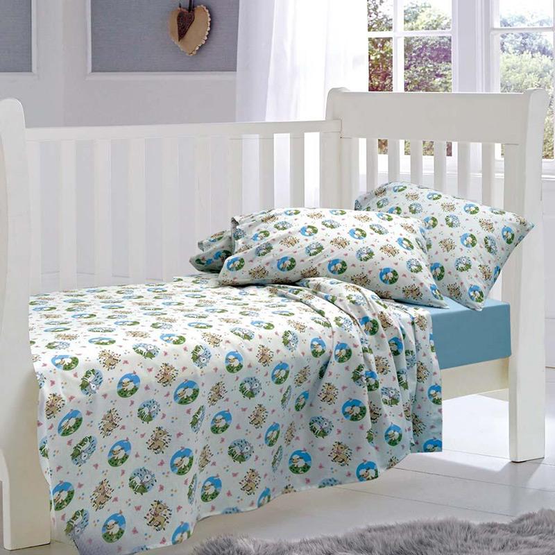 Σεντόνια Μονά (Σετ) 160×240 Sb Home Elvin Blue Σιελ Χωρίς Λάστιχο
