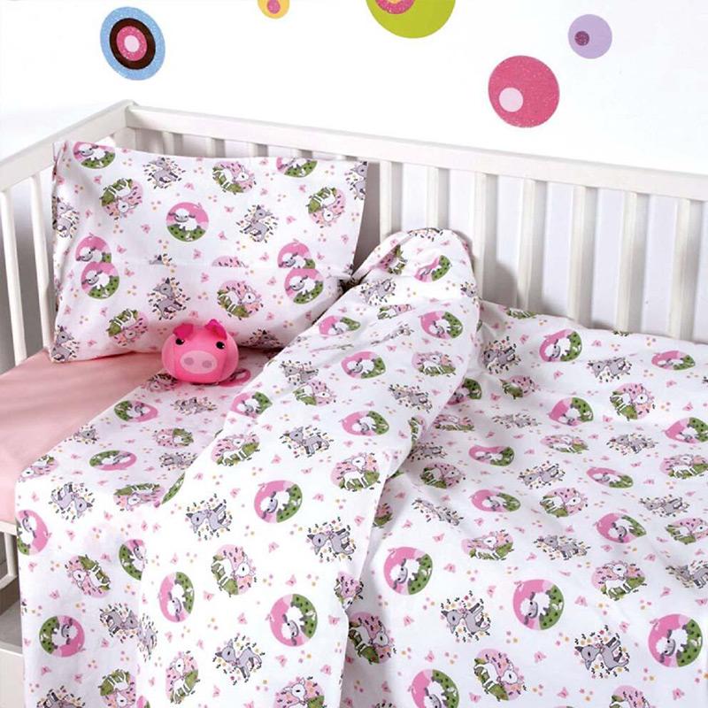 Σεντόνια Μονά (Σετ) 160×240 Sb Home Elvin Pink Ροζ Χωρίς Λάστιχο