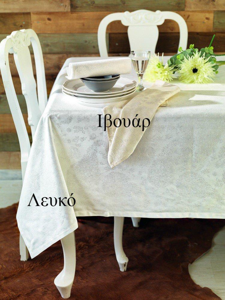 Πετσέτες Φαγητού (Σετ) 45×45 Ethnic Palamaiki Festozi White