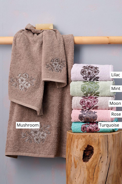 Πετσέτες Μπάνιου (Σετ 3 Τμχ) Palamaiki Towels Collection Florenza Mushroom