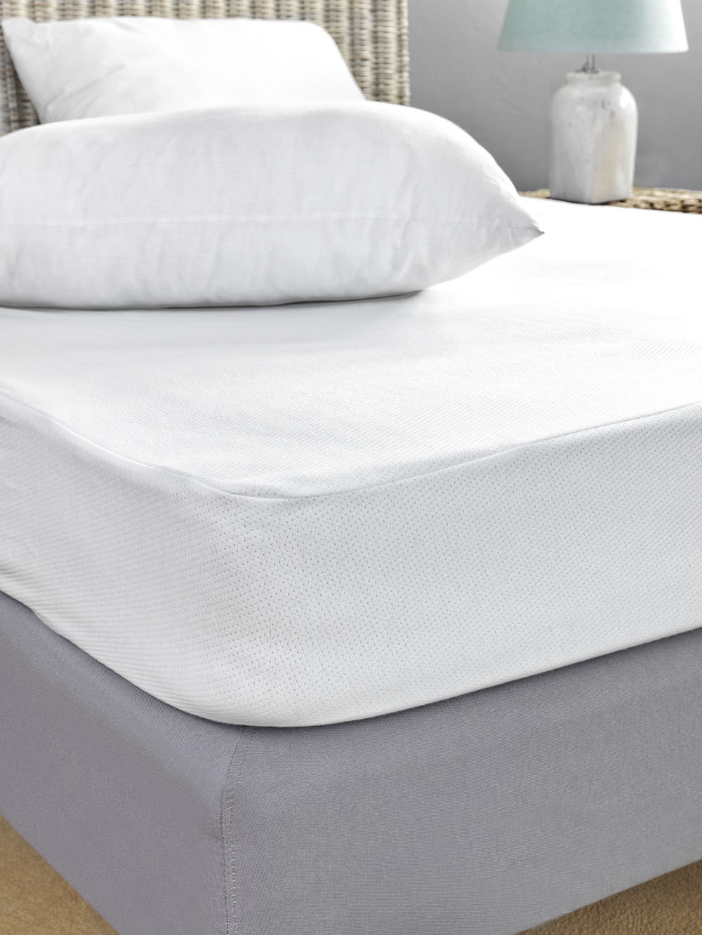 Αδιάβροχο Κάλυμμα Στρώματος Υπέρδιπλο 170×200 Jaquard Waterproof Palamaiki White Comfort