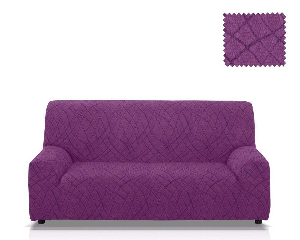 Ελαστικά καλύμματα καναπέ Karen-Τριθέσιος-Μωβ-10+ Χρώματα Διαθέσιμα-Καλύμματα Σαλονιού