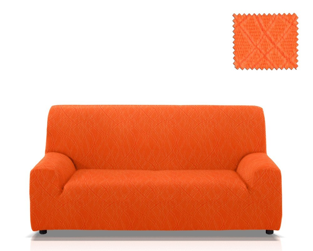 Ελαστικά καλύμματα καναπέ Karen-Τετραθέσιος-Πορτοκαλί-10+ Χρώματα Διαθέσιμα-Καλύ καλύμματα επίπλων καλύμματα καναπέ σαλονιού   πολυθρόνας