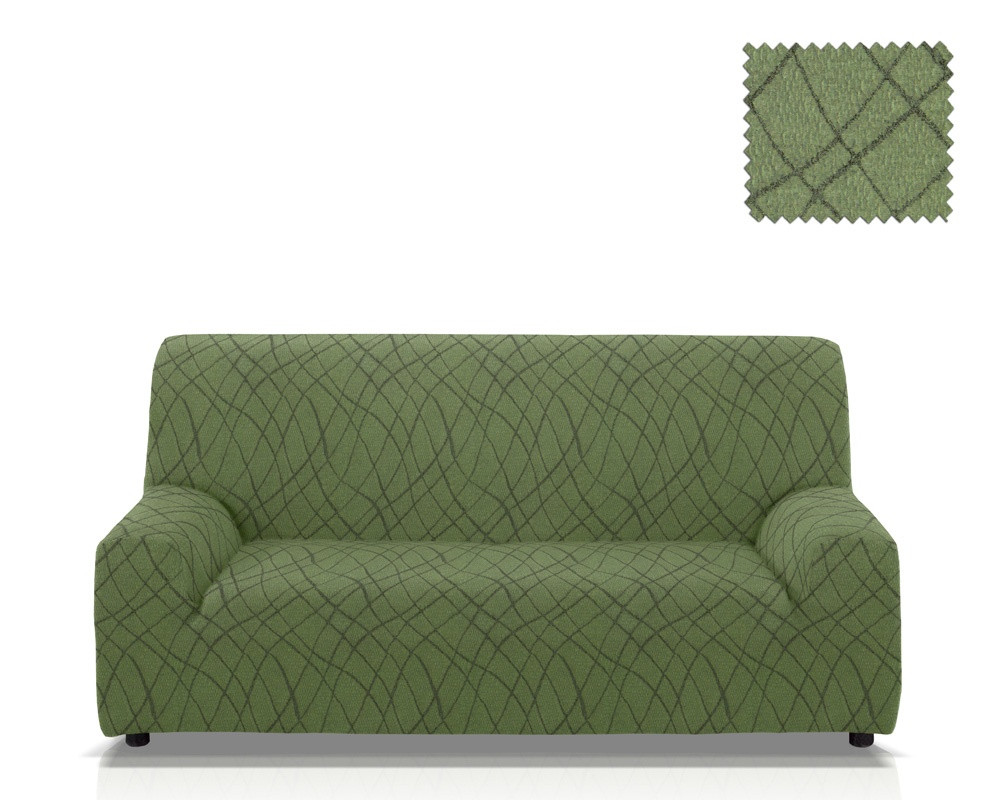 Ελαστικά καλύμματα καναπέ Karen-Τριθέσιος-Πράσινο-10+ Χρώματα Διαθέσιμα-Καλύμματ καλύμματα επίπλων καλύμματα καναπέ σαλονιού   πολυθρόνας