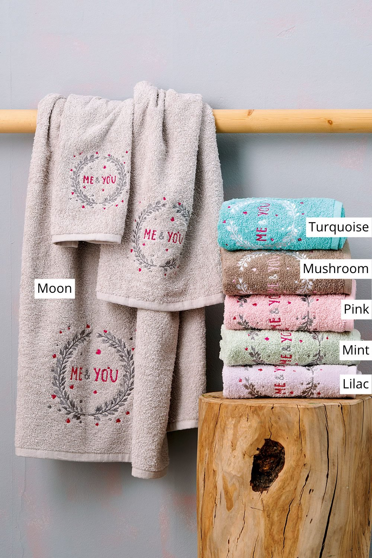 Πετσέτες Μπάνιου (Σετ 3 Τμχ) Palamaiki Towels Collection Lanvin Mushroom