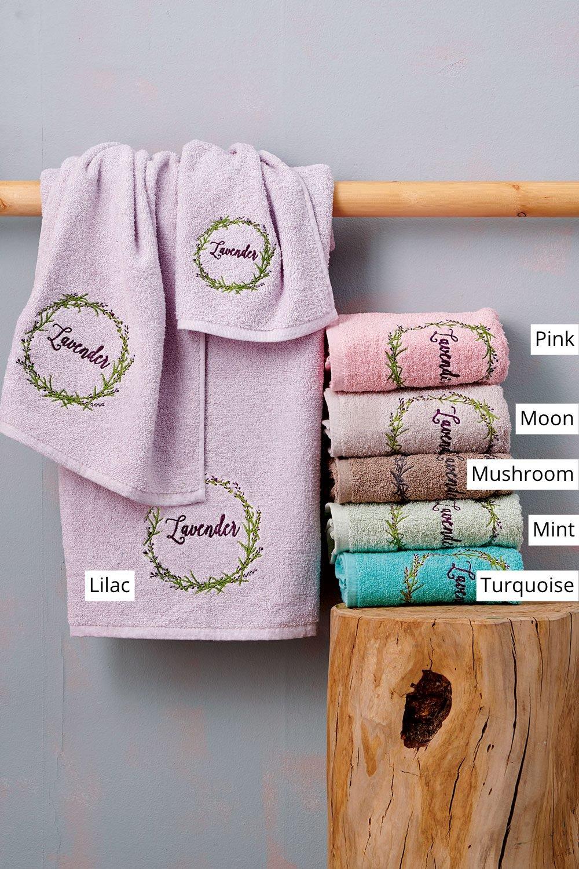 Πετσέτες Μπάνιου (Σετ 3 Τμχ) Palamaiki Towels Collection Laura Mushroom