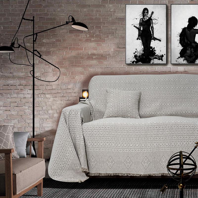 Ριχτάρι Τριθέσιου 180×300 Sb Home Marsela Grey Γκρι