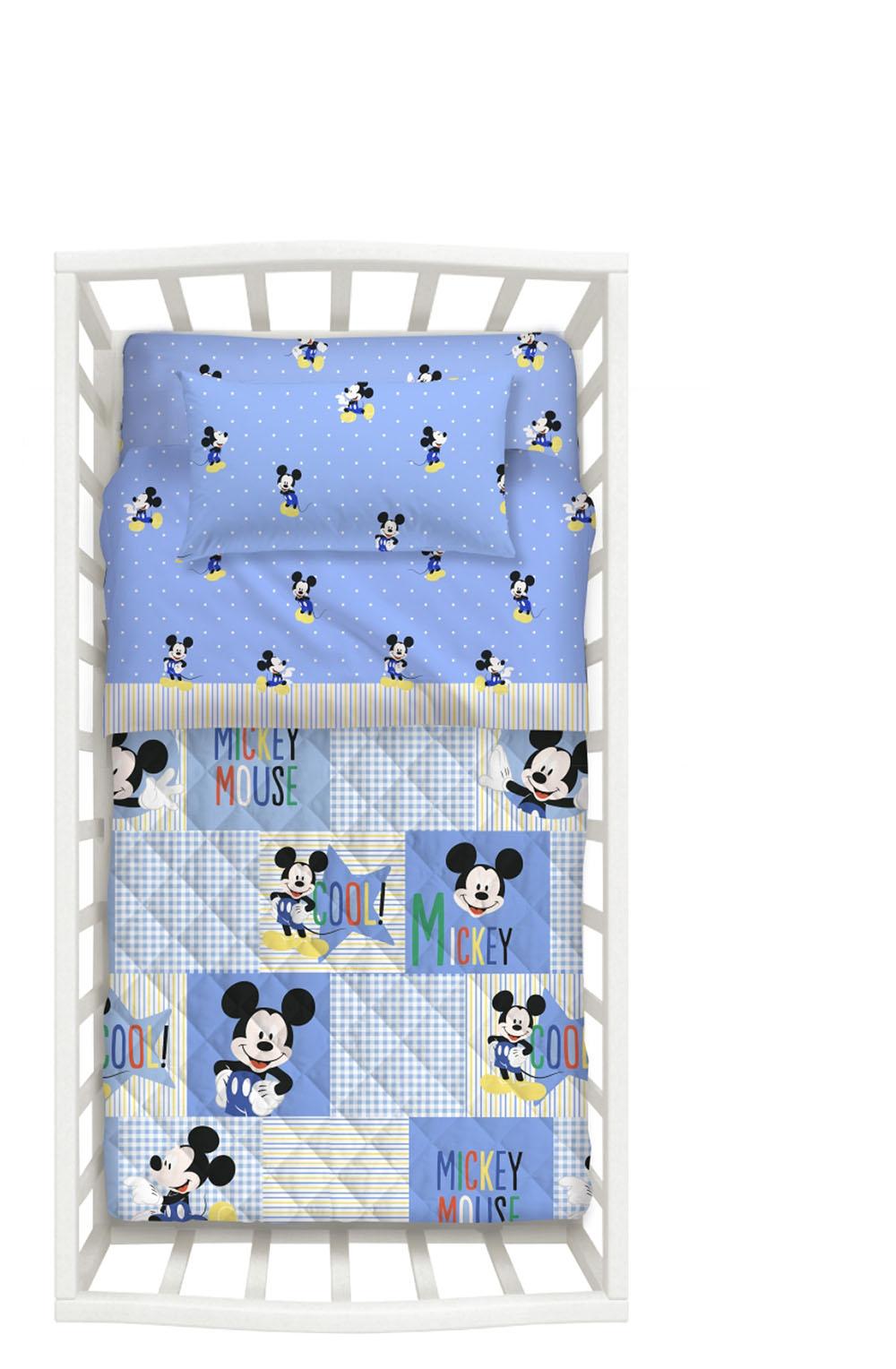 Βρεφικό Σετ Κρεβατιού (Σετ 5 Τμχ) Mickey Palamaiki Baby Collection