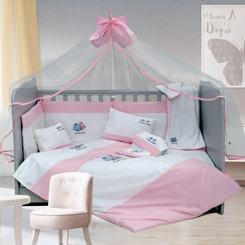 Σετ Κούνιας (6 Τμχ) Sb Home My Baby Cars Pink Ροζ