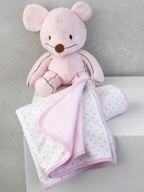 Κουβέρτα Διπλής Όψης 75×100 Palamaiki New Baby Nb-0117 Pink