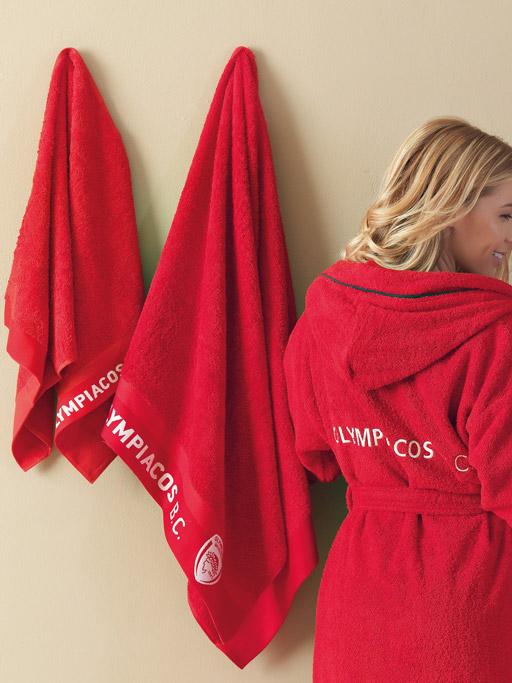 Πετσέτα Προσώπου 50x100 Palamaiki Official Team Licenced Olympiakos Bc-1925 Red  καλύμματα επίπλων καλύμματα καναπέ σαλονιού   πολυθρόνας καλύμματα καναπέ γωνία
