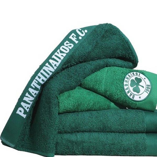 Πετσέτα Προσώπου (50×100) Palamaiki Official Team Licenced Panathinaikos Green-Παο-Παναθηναικός