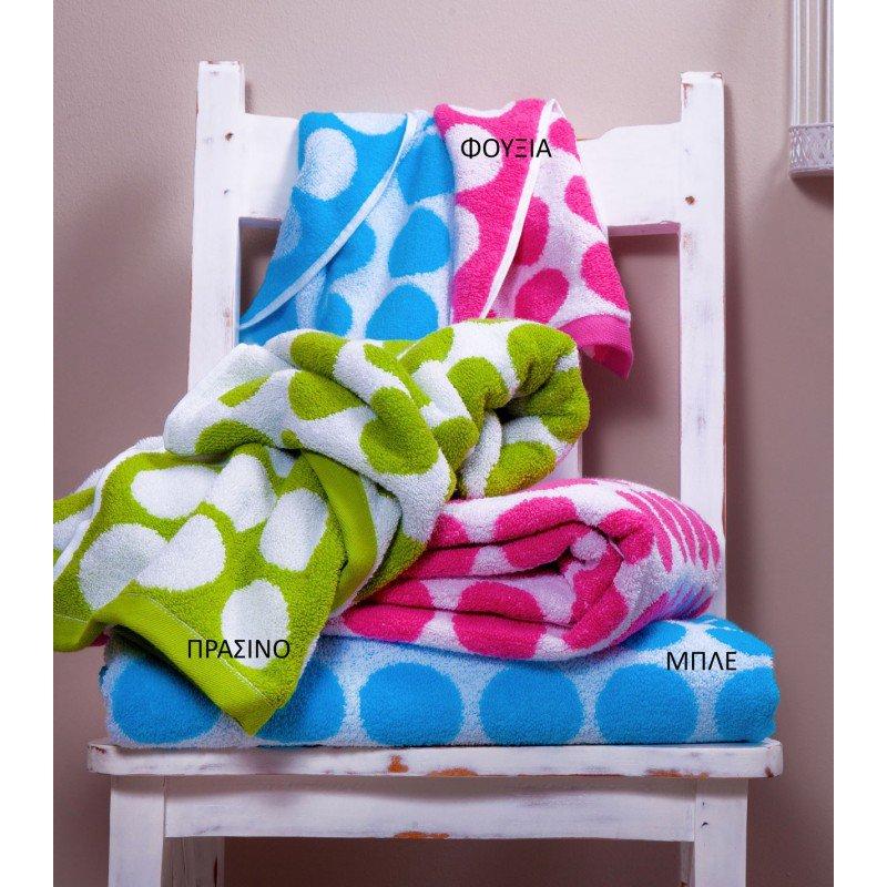 Πετσέτες (Σετ 3 Τμχ) Tory Palamaiki Premium Towels Navy
