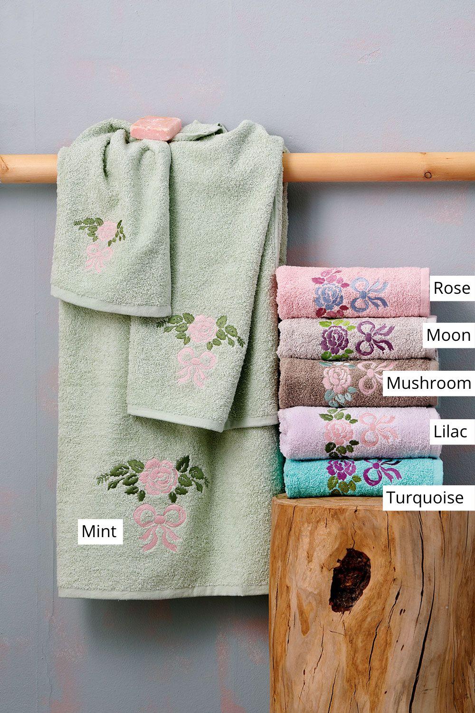 Πετσέτες Μπάνιου (Σετ 3 Τμχ) Palamaiki Towels Collection Roselia Mushroom