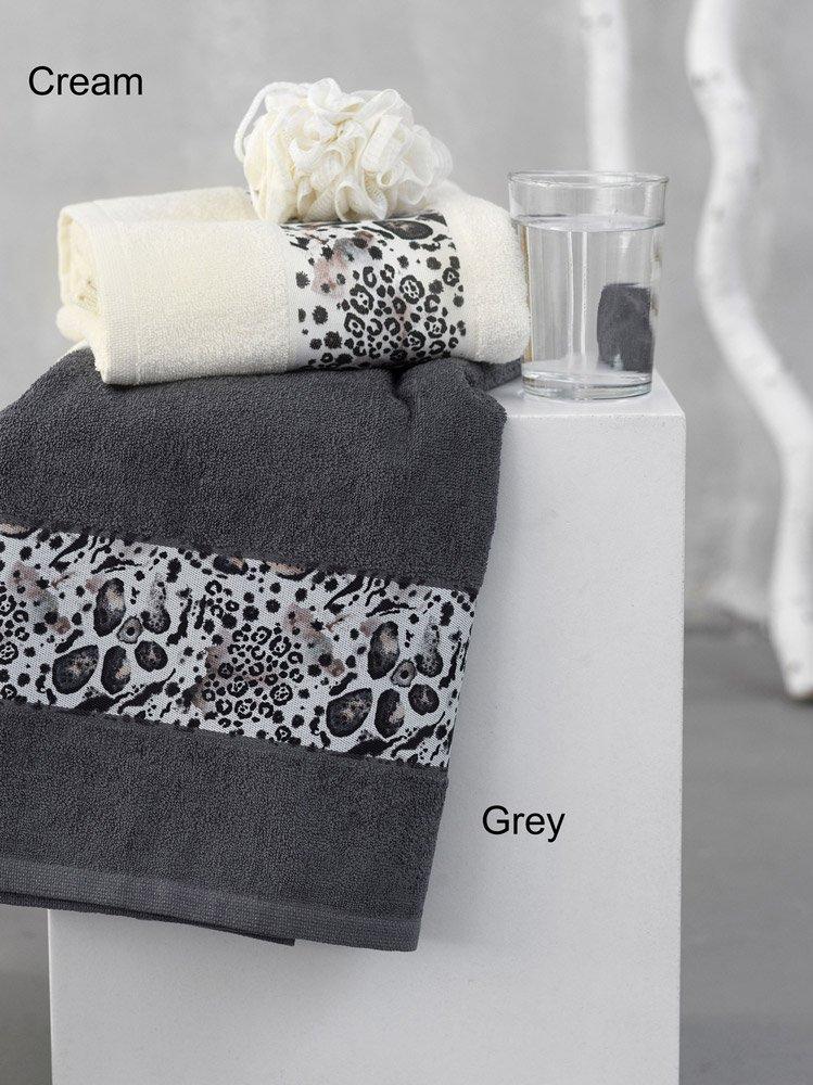 Πετσέτες Μπάνιου (Σετ 3 Τμχ) Palamaiki Towels Collection Scordia Grey