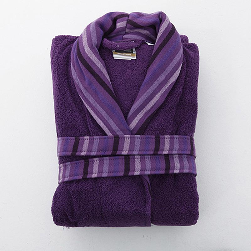 Μπουρνούζι Με Γιακά x-Large Sb Home Selection Purple Μώβ