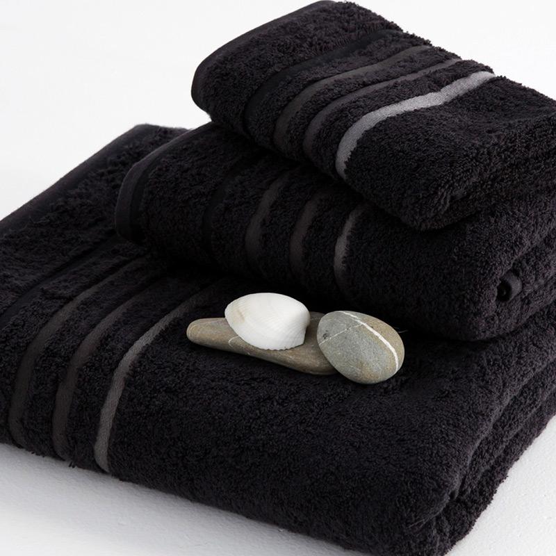 Πετσέτα Μπάνιου 100×150 Sb Home Selection Black Μαύρο