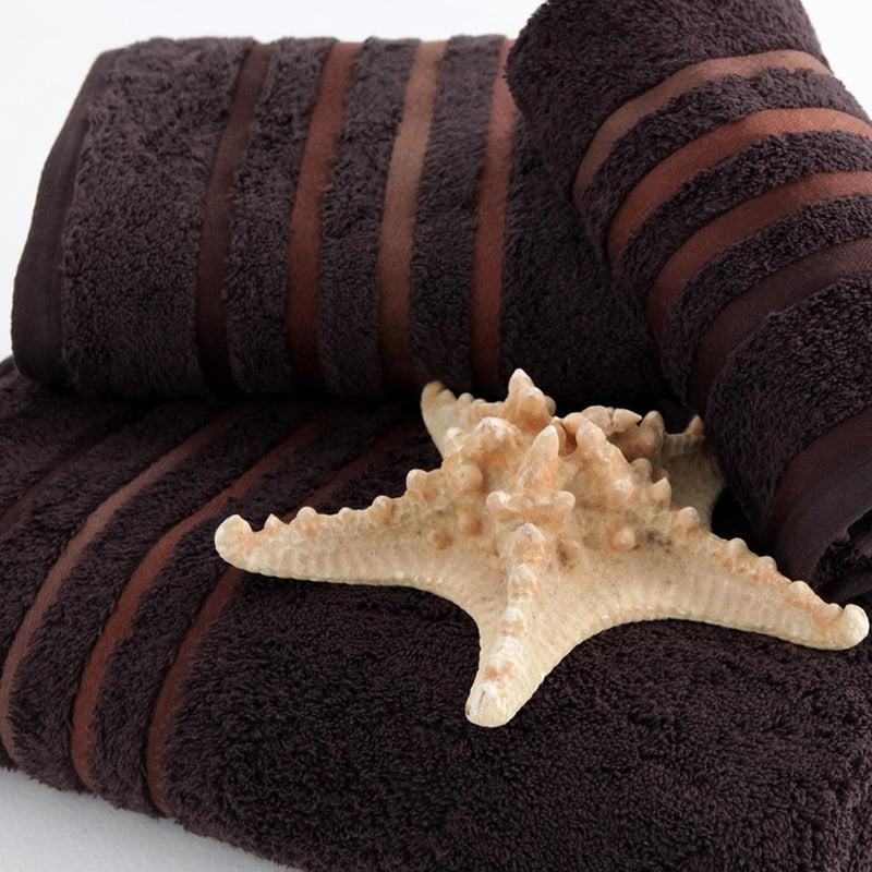 Πετσέτα Προσώπου 50×100 Sb Home Selection Wenge Καφέ Μαύρο