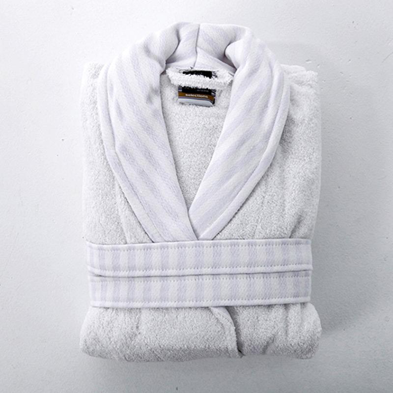Μπουρνούζι Με Γιακά Medium Sb Home Selection White Λευκό