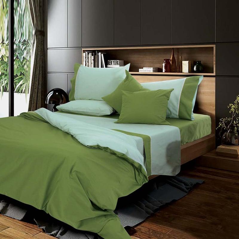 Σεντόνια Μονά (Σετ) 170×260 Sb Home Simi Olive Πρασινο Χωρίς Λάστιχο