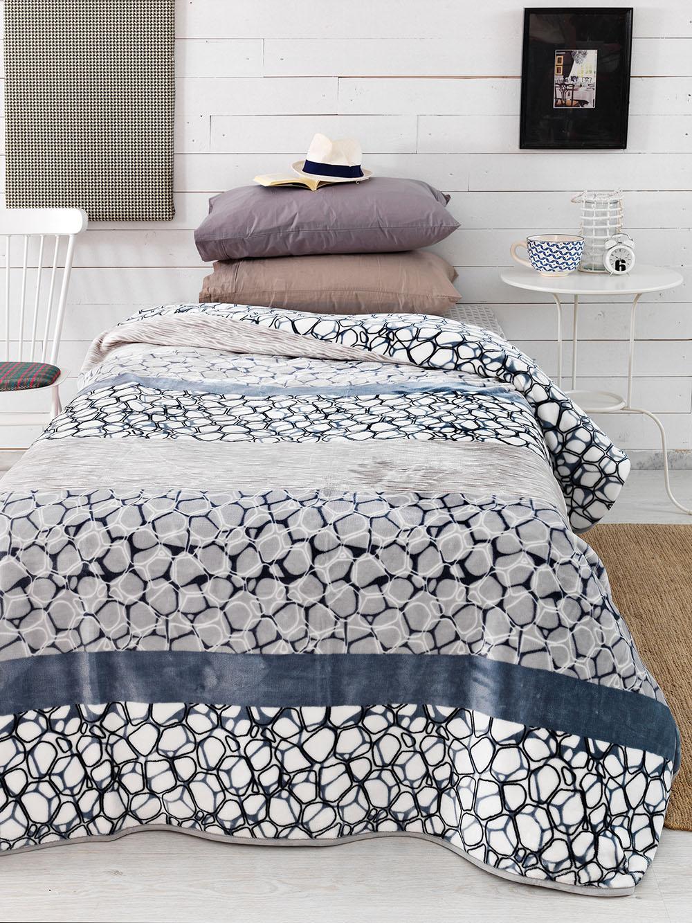 Κουβέρτα Fleece Μονή 160×240 SY-249 Palamaiki Silky Collection