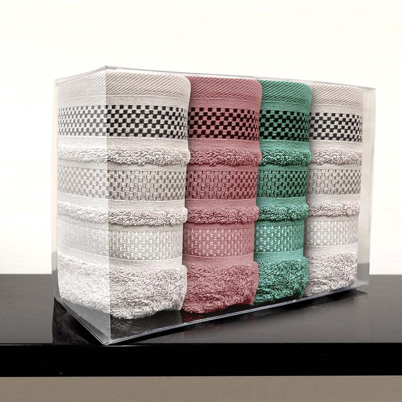Πετσέτες Χεριών (Σετ 4 Τμχ) 30×50 Sb Home Valeria Όλα Τα Χρωματα