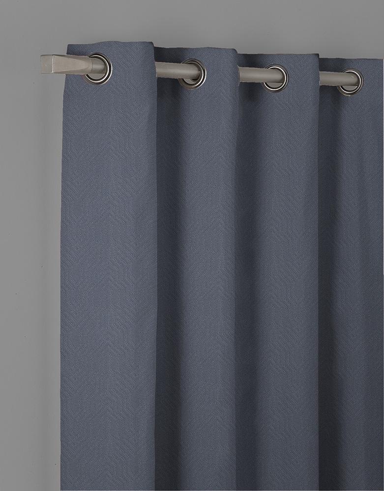 Κουρτίνα Με Τρουκς Blackout 140X260 Isel Μπλε