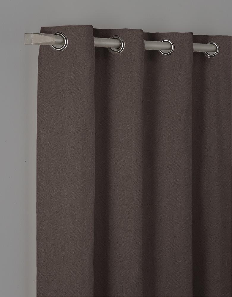 Κουρτίνα Με Τρουκς Blackout 140X260 Isel Καφέ