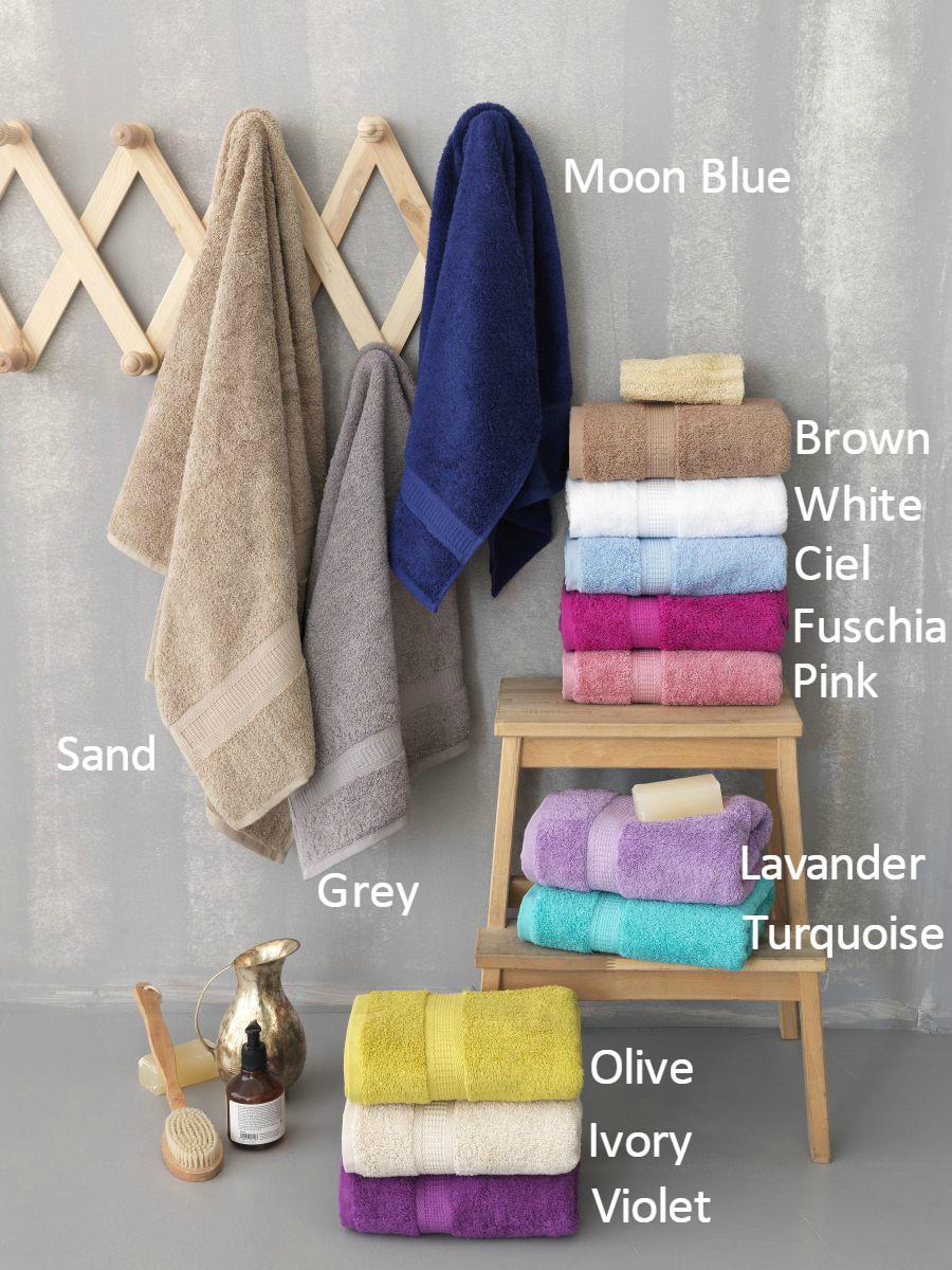 Πετσέτα Προσώπου 50×100 Jolie Palamaiki Premium Towels Ciel