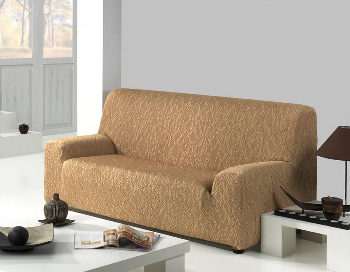 Ελαστικά καλύμματα καναπέ Karen-Τριθέσιος-Μπεζ-10+ Χρώματα Διαθέσιμα-Καλύμματα Σαλονιού