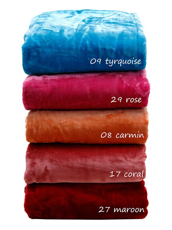 Κουβέρτα Υπέρδιπλη 220×240 Βελουτε Velour Sunshine – Coral