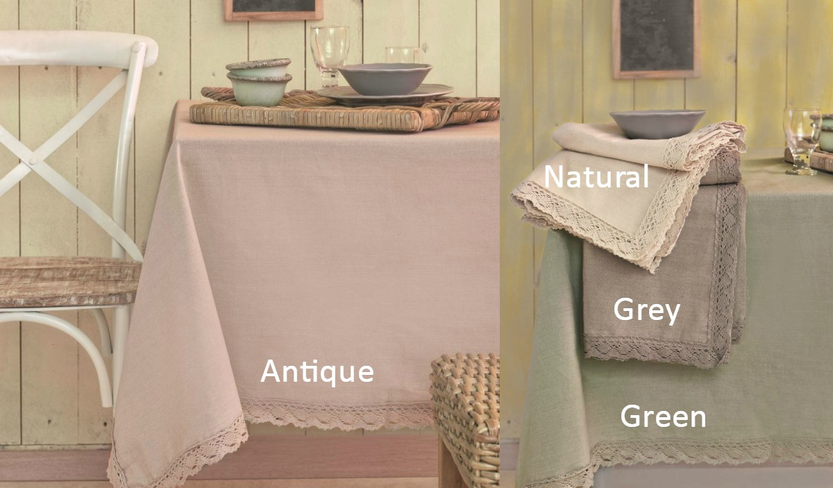 Πετσέτες (Σετ 4 Τμχ) 33×43 LACE Palamaiki Kitchen Towels NATURAL