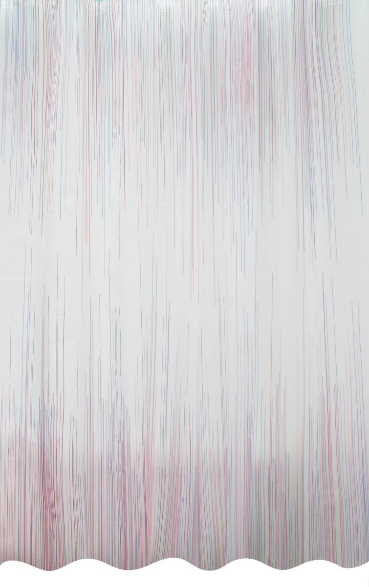 Κουρτίνα Μπάνιου 180x200 Lines Palamaiki Shower Curtain λευκά είδη μπάνιο κουρτίνες μπάνιου