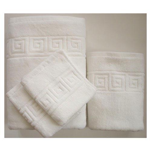 Πετσέτα 70×140 Λευκή Πενιε Μαιάνδρος 100% Βαμβάκι 450 Γραμ.