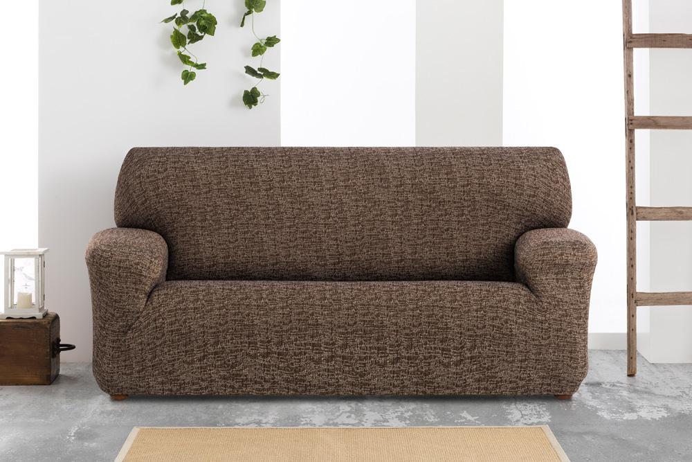 Ελαστικά καλύμματα καναπέ Malta-Καφέ-Πολυθρόνα-10+ Χρώματα Διαθέσιμα-Καλύμματα Σαλονιού