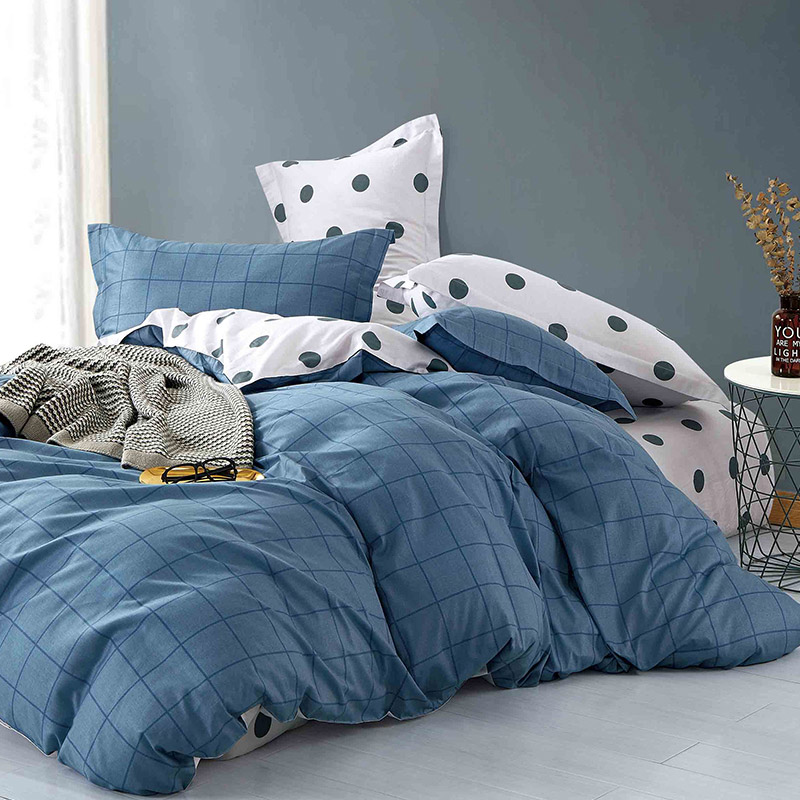 Σεντόνια Μονά (Σετ) 170X260 Melinen Dot Boy Blue Χωρίς Λάστιχο (170x260)